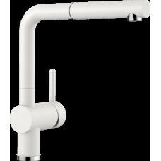 Смеситель Blanco LINUS-S выдвижной излив, белый арт. 516692