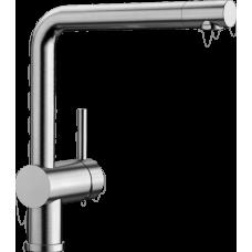 Смеситель Blanco LINUS вращающийся излив, нержавеющая сталь арт. 517183