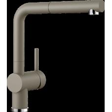 Смеситель Blanco LINUS-S выдвижной излив, серый беж арт. 517621