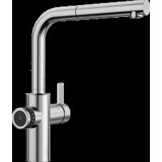 Смеситель Blanco EVOL-S Volume рычаг управления справа, нержавеющая сталь арт. 525211