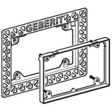 Монтажная рамка с компенсационной рамкой для смывной клавиши и бачка Geberit Sigma арт. 242.622.00.1