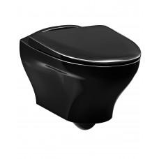 Унитаз подвесной Gustavsberg Estetic 8330 черный, с функцией Hygienic Flush арт. GB1183300S0030