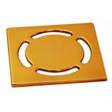 """HL037Pr.11E Декоративная решетка, цвет """"золото"""", 115 x 115 мм"""