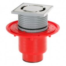 HL310N-SML Трап с решеткой в подрамнике 123 x 123 мм, высотой гидрозатвора 50 мм, Q=0,67 л/с