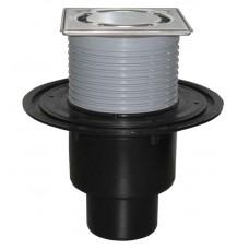 """HL310N.2-3000 Трап для балконов и террас, с высокой пропускной способностью, DN50/75/110, с надставным элементом """"Klick-Klack"""""""