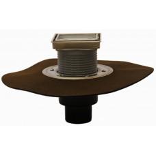 """HL310NHPr-3020 Трап с вертикальным выпуском, с надставным элементом, с подрамником и вкладышем для вклеивания керамической плитки, с полимербитумным гидроизоляционным полотном, с """"СУХИМ"""" сифоном Primus"""