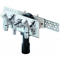 HL406.2 Сифон для скрытой установки, для стиральной или посудомоечной машины, с двумя комбинированными водопроводными вентилями