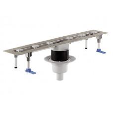 HL50FV.0/100 Корпус плоского душевого лотка из нержавеющей стали с вертикальным выпуском (1000 мм)
