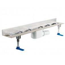 HL50W.0/130 Корпус душевого лотка из нержавеющей стали, для пристенного монтажа (1300 мм)