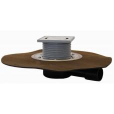"""HL510NHPr Трап с горизонтальным выпуском, с решеткой из нержавеющей стали, с """"СУХИМ"""" сифоном Primus, с полимербитумным гидроизоляционным полотном"""