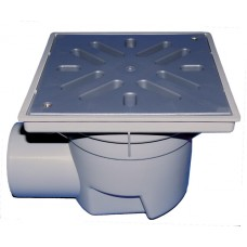 HL605L Трап с горизонтальным выпуском, c решеткой из ПП и макс. нагрузкой на трап 1,5 т. (DN 110)
