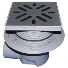 HL615 Трап с горизонтальным выпуском, чугунной решеткой и незамерзающим запахозапирающим устройством