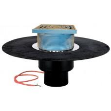 Воронка для эксплуатируемой кровли, с теплоизоляцией, с полимербитумным полотном Ø500 мм, с электрообогревом арт. HL62.1BH