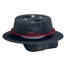 HL64FPowerSafe Воронка для аварийного водостока с отсекателем воздуха с фланцем из ПП с возможностью регулировки толщины слоя воды от 28 до 68 мм