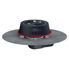 HL64HPowerSafe Воронка для аварийного водостока с отсекателем воздуха с полимербитумным полотном с возможностью регулировки толщины слоя воды от 28 до 68 мм