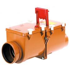 HL712.2 2-х камерный механический канализационный затвор с соединением DN125