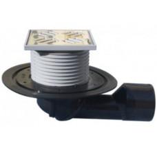 HL80.1-3020 Трап с поворотным шарнирным выпуском, c декоративной решеткой под плитку 3020