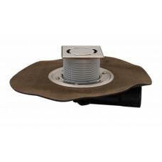 """HL80H-3000 Трап для балконов и террас с гидроизоляционным полимербитумным полотном, с надставным элементом """"Klick-Klack"""""""