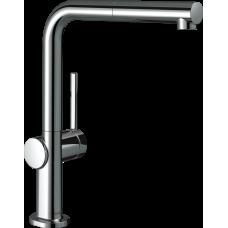 72845000 Кухонный смеситель Hansgrohe Talis M54 однорычажный, 270, Eco, с вытяжным изливом, 1jet, хром
