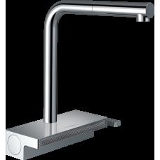 73830000 Кухонный смеситель Hansgrohe Aquno Select M81 однорычажный, 250, с вытяжным душем, 2jet, sBox, хром