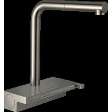 73830800 Кухонный смеситель Hansgrohe Aquno Select M81 однорычажный, 250, с вытяжным душем, 2jet, sBox