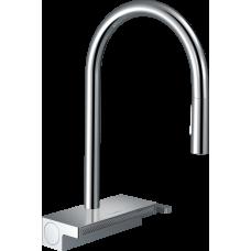 73837000 Кухонный смеситель Hansgrohe Aquno Select M81 однорычажный, 170, с вытяжным душем, 3jet, хром