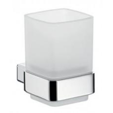Стакан для зубных щеток Loft, 100х99х71мм,настенный монтаж,стакан сатинированное стекло,цвет держателя хром арт.052000100