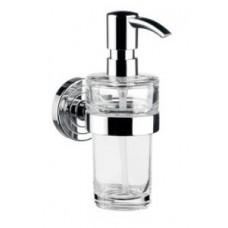 Дозатор для жидкого мыла polo, 116х171х64мм,материал-стекло,в комплекте с настенным держателем,емкостью 130мл,хром арт.072100101