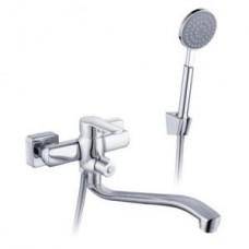 Смеситель одноручный (35мм) для ванны, с S-образным изливом 320мм, диверт.с кер.пласт., хром I35-34