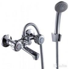 Смеситель двуручный  для ванны, с коротким изливом, хром K02-81