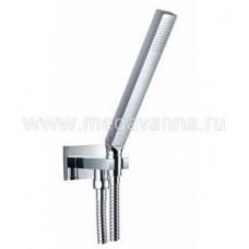 Душевой гарнитур, в набор входят: ручной душ, настенный держатель со встроенным подсоединением шланга, душевой шланг 1,5 м,  цвет хром Арт. 1351670