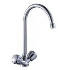 Смеситель двуручный    для кухни, с  высоким поворотным изливом 260 мм, хром L02-72