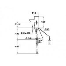 Электронный см-ль для умывальника литой 180-7551-10