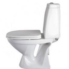 """Унитаз """"UNIQUE"""" белый, двойной слив, жесткое сиденье"""