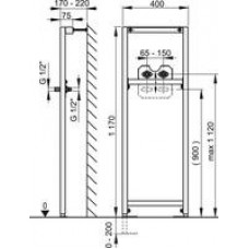 Рама для смесителей (высота монтажа 1,2 м) A104B/1200