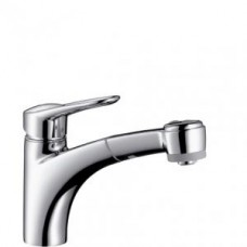 Смеситель для кухни, однорычажный, с выдвижным душем, для водонагревателей открытого типа, ' 14842000 - Хром