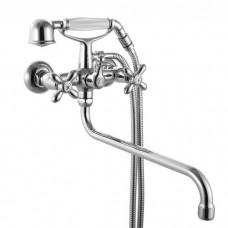Смеситель для ванны, 27014T2K, Jeals, шланг, лейка, держ., длин.излив