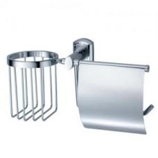 Держатель для туалетной бумаги и освежителя, хром  арт. WK3059