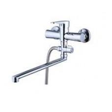 смеситель G-lauf для ванны с плоским пов. изливом, 35, выносной дивертор NUD6-A146