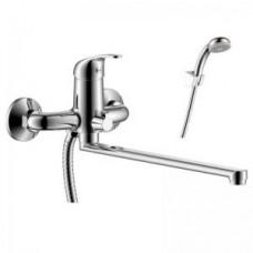 Смеситель одноручный (35 мм) для ванны с плоским изливом 350 мм, хром Y35-32