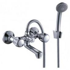Смеситель двуручный  для ванны, с коротким изливом, хром L02-81