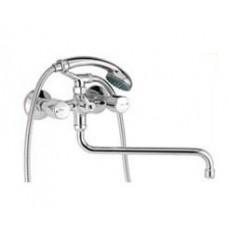 """Смеситель """"Lazer"""" ванны-душа, излив 300 мм,керам.,хром  604_LECER"""