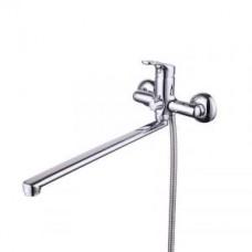 Смеситель для ванны с длинным изливом с керамическим дивертором Milardo Neva NEVSBLCM10