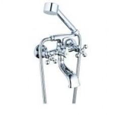 смеситель G-lauf для ванны с литым пов. изливом (Lt) 150 мм, кер. (1/2) 180°, 3х-поз. Карт. Перекл. QSL3-A827