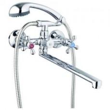 См-ль для ванны с плоским пов. изливом 150мм, кер. (1/2) 180° двухпозиц. Карт. перекл. G-lauf QMT3-A827