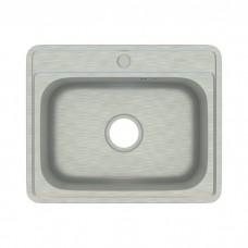 Мойка, нержавеющая сталь, сатин, 530*430, Basic, IDDIS, BAS53S0i77