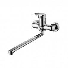 Смеситель для ванны с длинным изливом с керамическим дивертором Carlow Plus, IDDIS, CRPSBL2i10WA