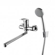 Смеситель для ванны с длинным изливом с керамическим дивертором Carlow Plus, IDDIS, CRPSBL2i10