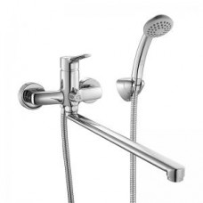 Смеситель для ванны с длинным изливом с керамическим дивертором Milardo Enisey ENISBLCM10