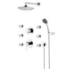 Душевая система, набор: 6 форсунок, верхний душ, ручной душ, смеситель, переключатель F4699000 AM&PM